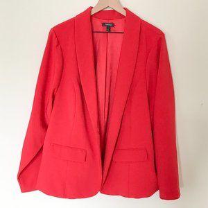 Torrid Deep Red Open Front Two-Pocket Blazer
